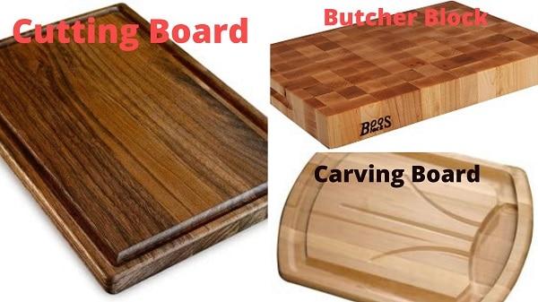 Cutting Board vs Carving Board vs Butcher Block
