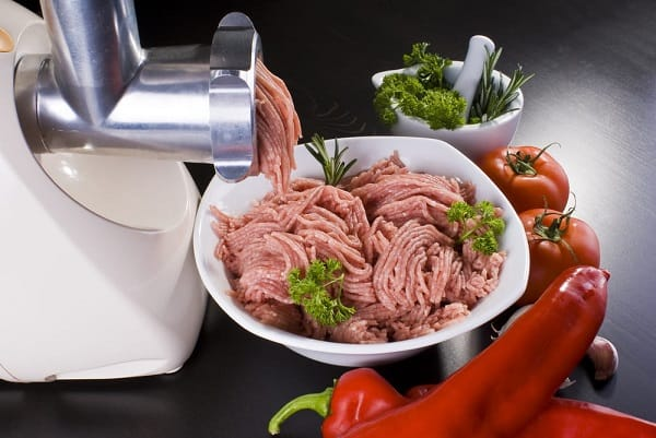 Grinding Meat for Burger